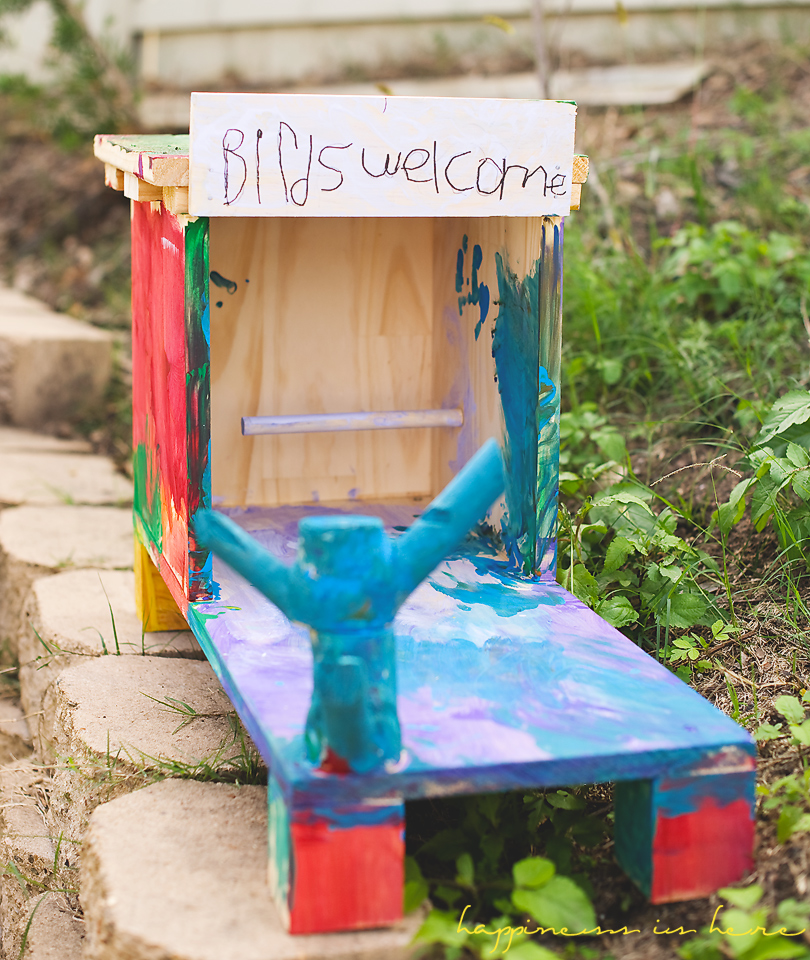 Kids Birdhouse Project | Happiness is here