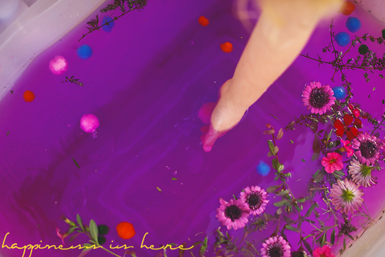 Floating Flowers: Spring Sensory Play | Happiness is here