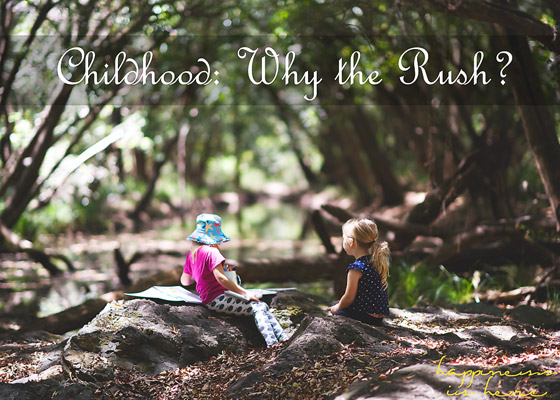 Childhood: Why the Rush?