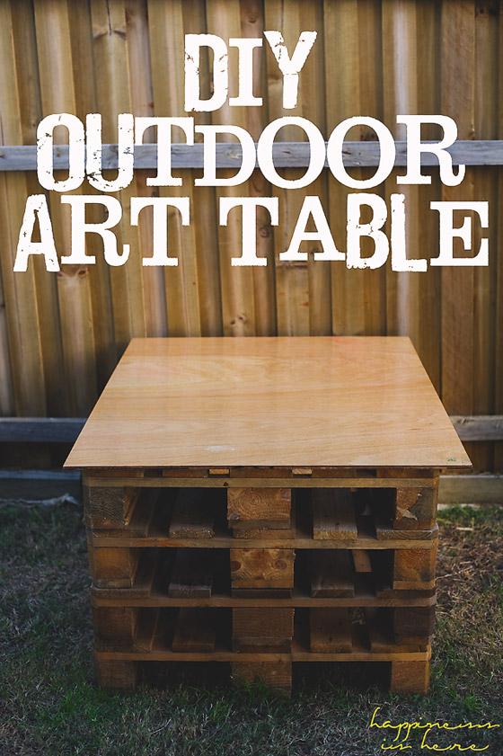 DIY Outdoor Art Table