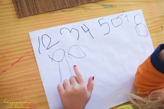 Learning to Write Numbers