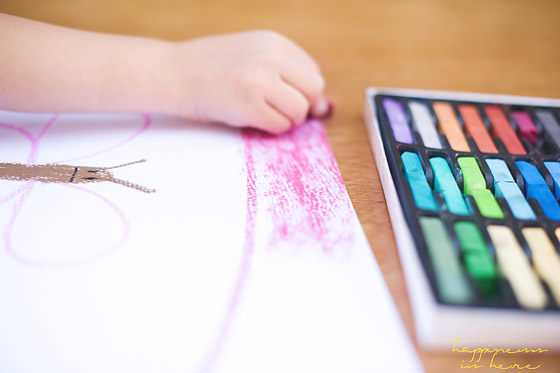 Mixed Media Art: Chalk Pastels and Liquid Watercolours