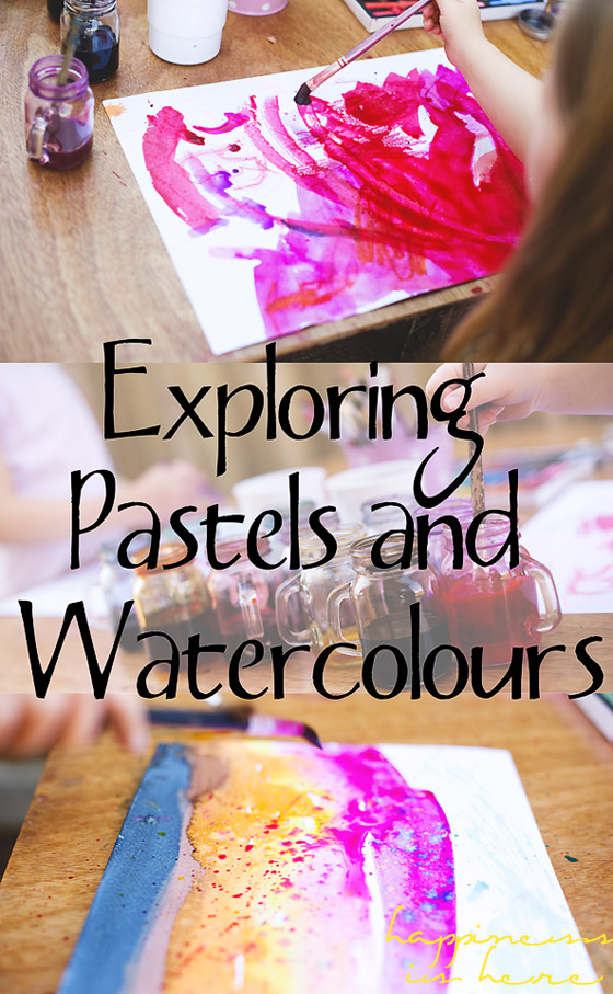 Mixed Media Art: Chalk Pastels and Liquid Watercolours
