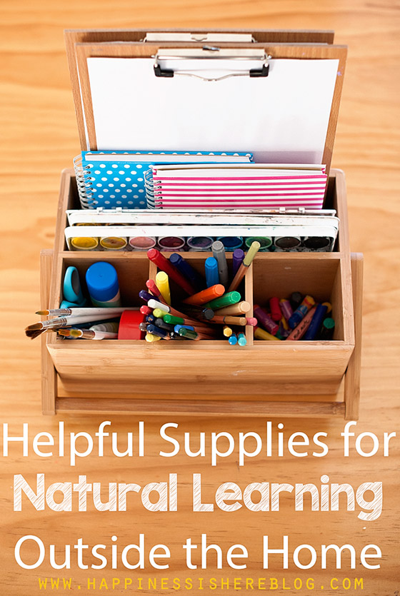 Natural Learning Outside the Home - What to Pack