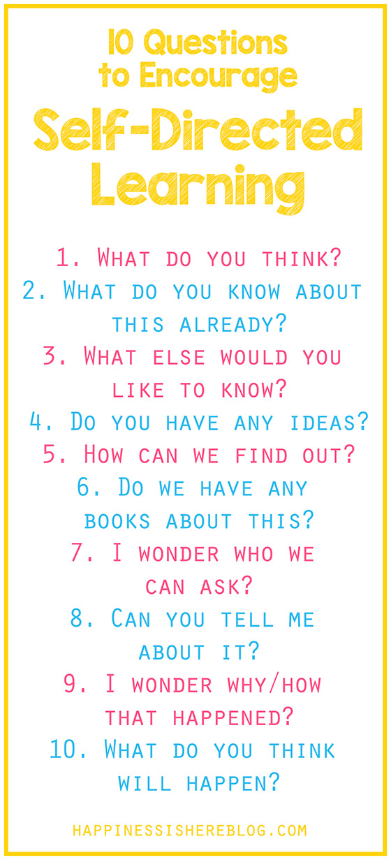 Questions To Inspire Self Directed Learning10
