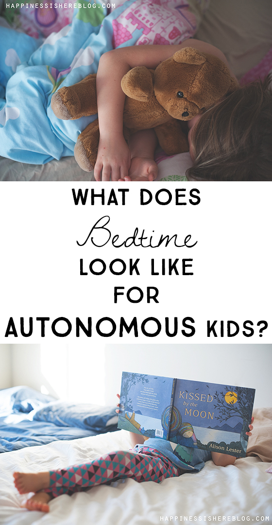 What does bedtime look like for autonomous kids?
